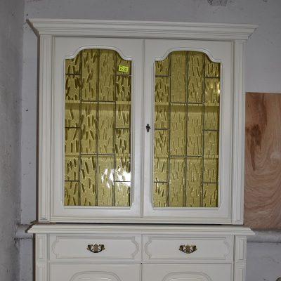 cena: 1590 zł; sszer: 120 cm; gł: 49 cm; wys: 197 cm (witryna po renowacji, kolor ecru)