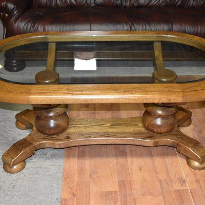 cena: 720 zł; dł: 132 cm; szer: 72 cm; wys: 56 cm (gruba, szlifowana szyba)