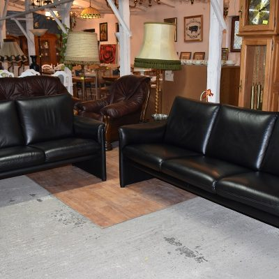 cena: 1950 zł; nowoczesny, skórzany komplet wypoczynkowy sofa 3-osobowa + sofa 2-osobowa