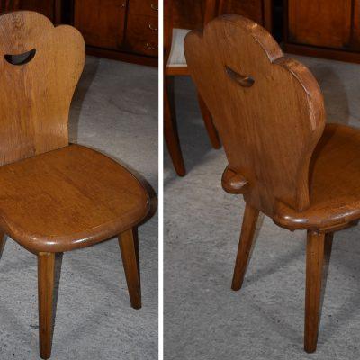 cena: 110 zł/szt, szer: 48 cm; gł: 50 cm; wys całkowita: 92 cm; wys siedziska: 47 cm (całe dębowe)