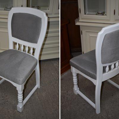 cena: 245 zł/szt, szer: 51 cm; gł: 46 cm; wys całkowita: 93 cm; wys siedziska: 49 cm (odnowione z nową tapicerką)