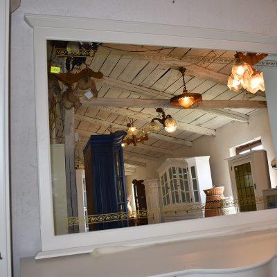 lustro: dł: 165 cm x wys: 113 cm (Duże lustro w drewnianej ramie również z grawerem, który pasuje do całości kompletu)