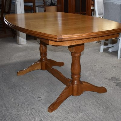 Stół dębowy z 3 blatami dł: 150 cm + 3 x 40 cm; szer: 100 cm; wys: 77 cm
