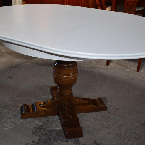 cena: 1040zł; śr: 110 cm + 40 cm; wys: 76 cm (odnowiony w prowansalskim stylu)